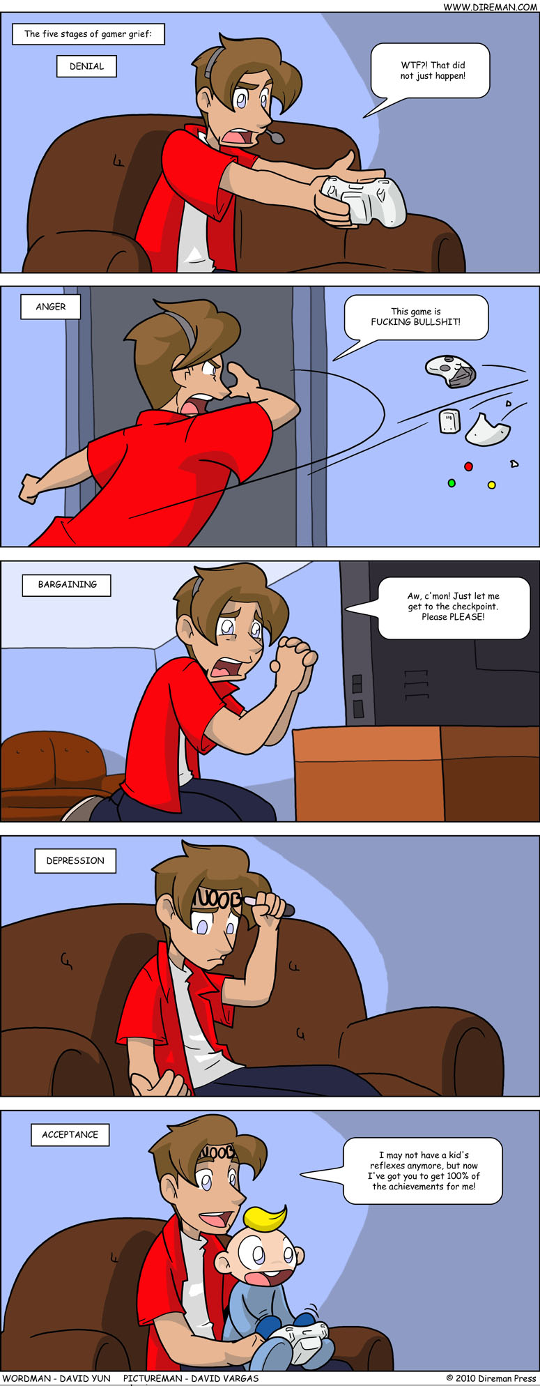 Five Stages of Gamer Grief
