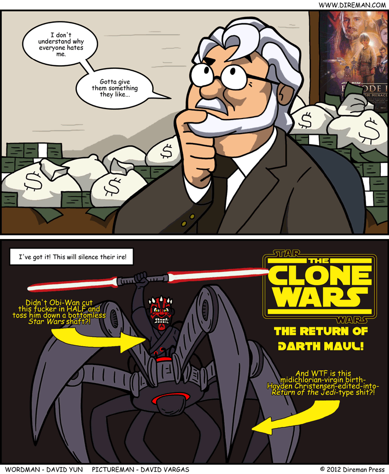 George Lucas Tries Hard