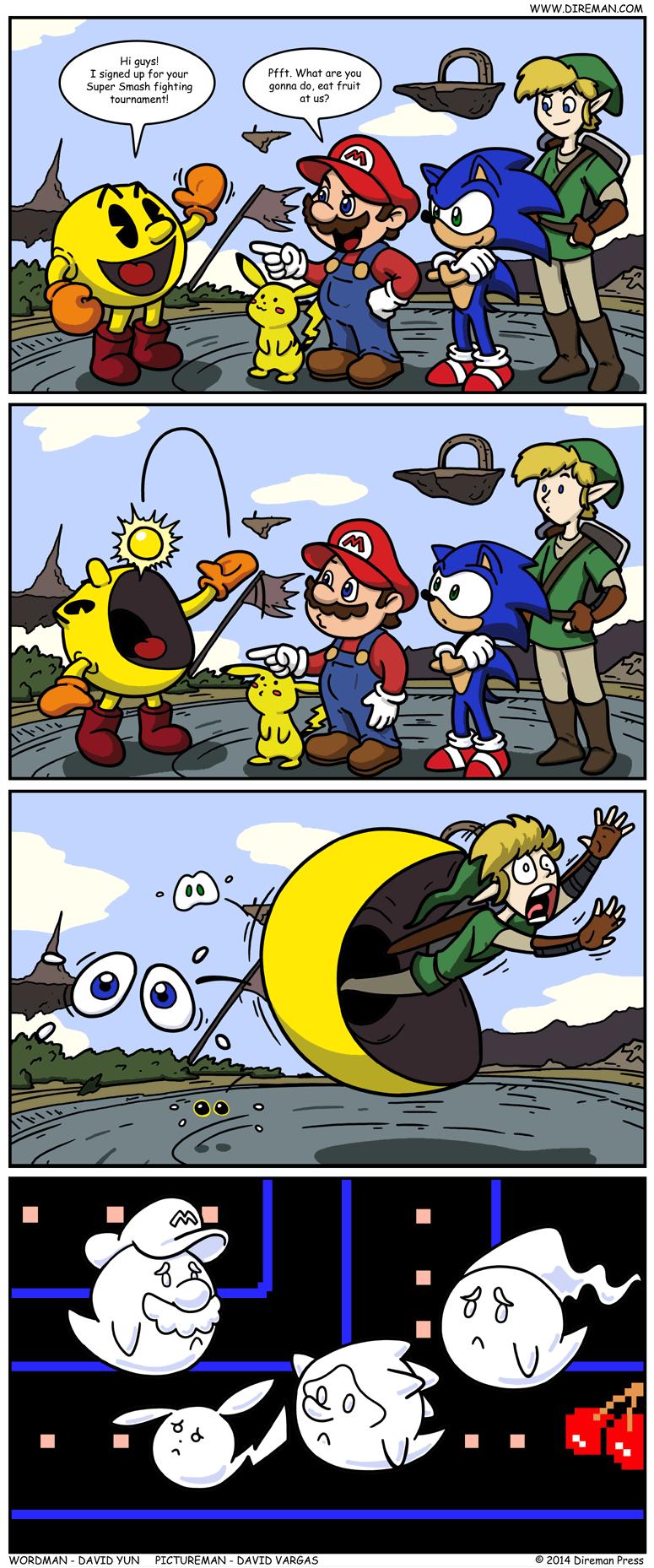 Pac Man Super Smash Bros.