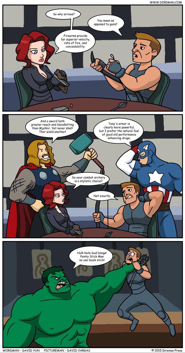 Hawkeye: Arrows vs. Bullets
