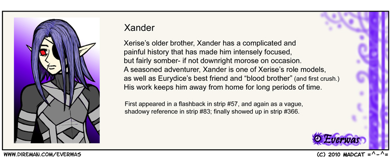 Cast Pic and Bio: Xander