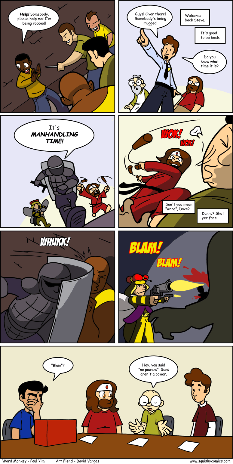 BLAM! BLAM! BLAM!